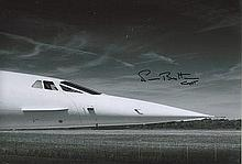 Neil Britton signed 12 x 8 colour Concorde photo.