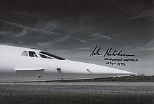 John Hutchinson signed 12 x 8 colour Concorde