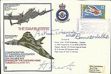 Barnes Wallis, Arthur Harris and Dambuster Micky Martin signed RAF WW2 cover