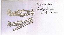 Dudley Honor DFC Very Rare Battle of Britain Signature 4