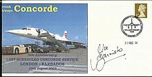 Mike Banister signed Concorde 5th Ann Last Barbados flight FDC from Mike Bannister Collection