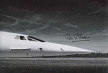 Peter Baker signed 12 x 8 colour Concorde photo.