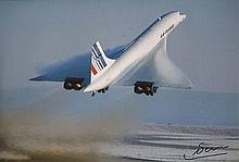 Gilbert Defer French Concorde test pilot signed photo