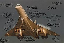 Concorde 12x8 Multi Signed stunning photo signed