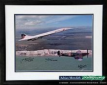 Concorde and Battle of Britain Spitfire Framed and