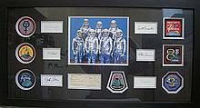 Mercury Seven signed Framed presentation overall