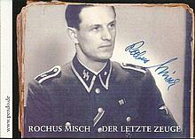Rochus Misch signed 6 x 4 b/w photo