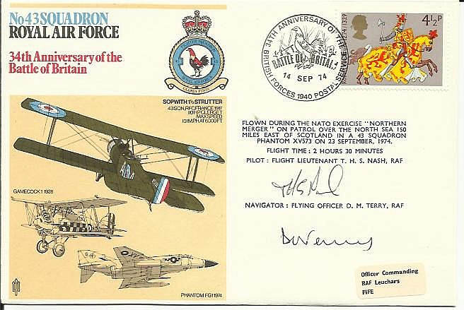 43 Squadron, 34th ann Battle of Britain cover,