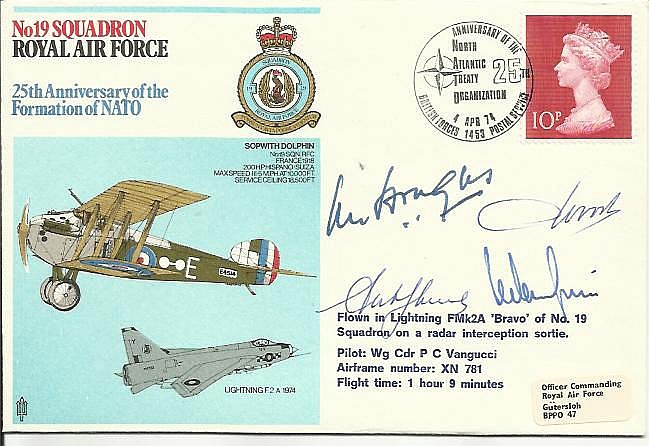 Sir Lewis Hodges DSO DFC signed 19 Squadron 25th