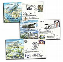 RAF Planes & Places VIP signed covers in used Red