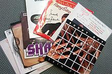 Signed Record Collection Eight 33rpm records