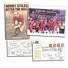 Manchester United signed collection. Nobby Stiles