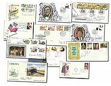 Signed First Day Cover collection. Multi-signed