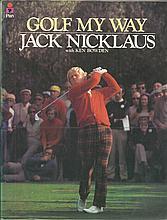 Jack Nicklaus signed soft back book Golf My Way,
