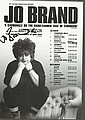 Jo Brand comedy star signed colour promo leaflet for her tour mounted to 12 x 8 black card