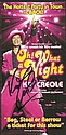 Kid Creole signed colour flyer for the smash hit musical Oh What a Night. Mounted to 12 x 8 card