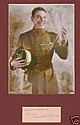 Victor Mclaglen Signed Book Page. Matted Photo and