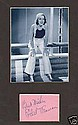 Ethel Merman Super Signed Page and picture