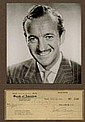 David Niven 1949 Signed Cheque +Pic Display.