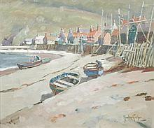 § Rowland Fisher, ROI, SMA (British, 1885-1969) - Pennen, Moray Firth, Scotland - signed lower right