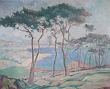 Jan Rubczak (Polish, 20th Century) - Coastal scene - signed lower right