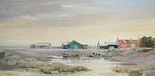 § Kathleen Sandbach (British, 20th Century) Brancaster Staithe signed and dated lower right