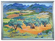 § Frederick Gore - Valle de Baux - signed lower left