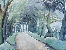 § Harry Barr (British, 1896-1987) - Norfolk Lanes, signed, watercolour (a pair)
