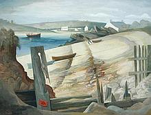 § Ken Symonds (British, 1927-2010) - View of Tresco from Bryher - signed lower left