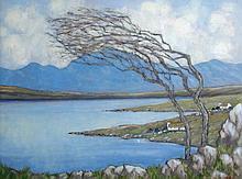 Tom Flanagan (British, 20th Century) - Connemara landscape - signed