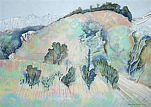 § Humphrey Spender (1910-2005) - Les Alpilles - watercolour