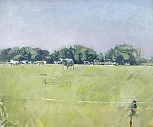 § Dick Lee (British, 1923-2001)  - Cows at Ingleville - signed lower right