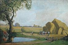 Matthew Adam (Scottish, 20th Century) - Scottish farming scene - signed lower right