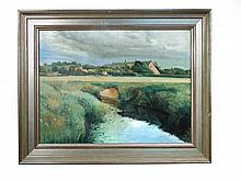 § John Plumb (British, 1927-2008) -  Ilford Bridges and River Isle 1 - signed lower right