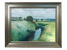 § John Plumb (British, 1927-2008) - Ilford Bridges and River Isle 2 signed lower right
