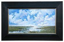 Jonathan Yule (British, 20th Century) - Marshland landscape - signed lower right