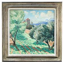 Circle of Marcel Dyf (French, 20th century), Tuscan summer , oil on canvas