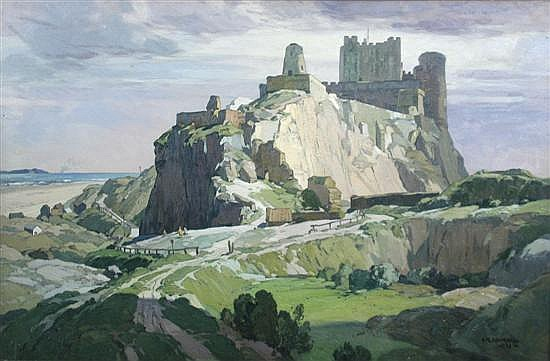 Leonard Russell Squirrell -   Bamborough Castle, Northumberland