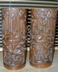 A pair of 19th century bamboo brush pots,