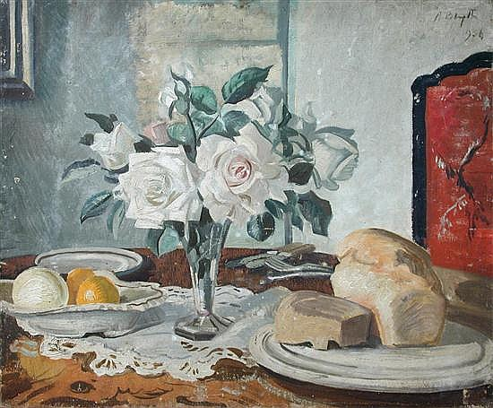 § A Blythe (British, 20th Century) - Still Life of Pink Roses