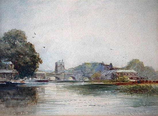 Robert Malcolm Lloyd (British, fl. 1880-1899) - St Ives Bridge, Huntingdon - signed bottom right