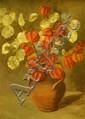 Jessie Madeleine Birt-Ulph (British, 1869-1927) Still Life of Chrysanthemums, 36.5 x 30cms Still Life of Petunias, 24 x 39cm Still L...