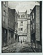 § Christopher Richard Wynne Nevinson, ARA (British, 1889-1946 Manette Street, Soho, London signed in pencil to lower margin