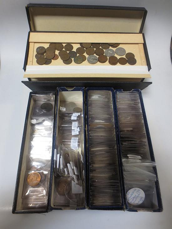 A quantity of late 18th century to mid 20th century copper coins,
