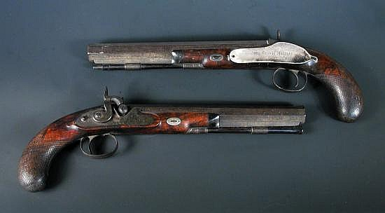 Joseph Manton, London, a pair of percussion cap duelling pistols, circa 1821,