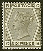 6d, plate 15 (CB), grey, unmounted mint,
