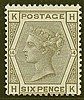 6d, plate 14 (HK), grey, unmounted mint,