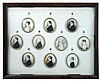 A framed group of ten early 19th century portrait miniatures,