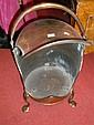 A 19th century copper plate warmer,