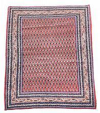 A Caucasian pink ground rug,